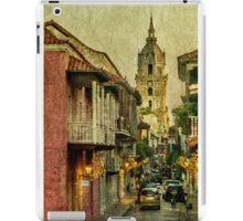 Vintage Grunge Urban View of Cartagena Architecture iPad Case/Skin