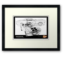 Gone In 60 Seconds - 1967 Shelby Mustang GT500 Framed Print