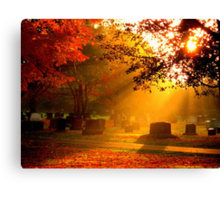 October Sunrise on the Cemetery Canvas Print
