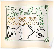 Maurice Verneuil Georges Auriol Alphonse Mucha Art Deco Nouveau Patterns Combinaisons Ornementalis 0058 Poster