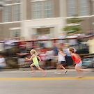 Young Girls Foot Race by Kent Nickell