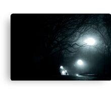 Walking at Night, New York City, USA Canvas Print