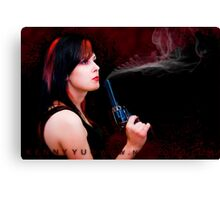 :::Hot Pistol::: Canvas Print