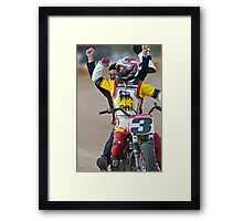 Joe Kopp Wins the Yavapai Mile for Ducati! Framed Print