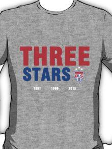 THREE STARS Print T-Shirt