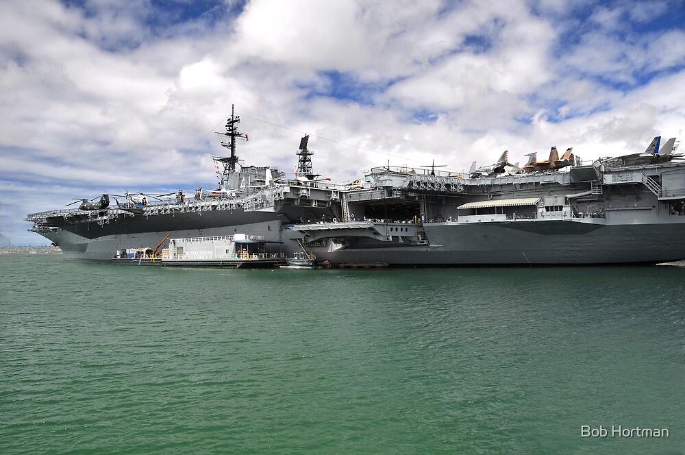 USS Midway aircraft carrier by Bob Hortman