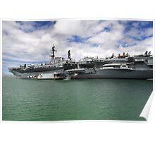 USS Midway aircraft carrier Poster