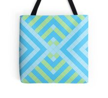 Retro mosaic in blue and green Tote Bag