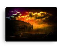 Darkness Falls at Hood Canal, Washington Canvas Print