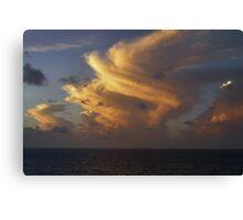 Caribbean Clouds Canvas Print