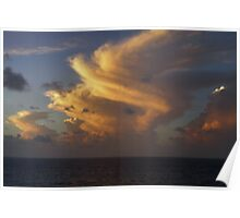 Caribbean Clouds Poster