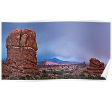 Sunset at Arches  Poster