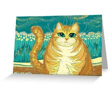 Cat And Pollen Greeting Card