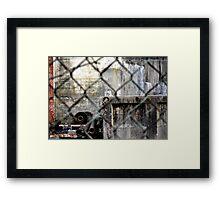 Rusted hardware Framed Print