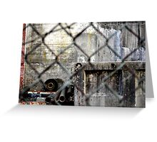 Rusted hardware Greeting Card
