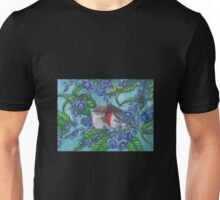 """""""Red Capped Robins Awaiting Dinner Guest"""" Unisex T-Shirt"""