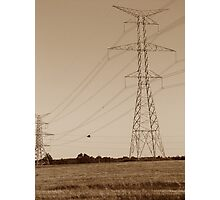 Hydro Towers Photographic Print
