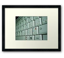 Closeup Keyboard Framed Print