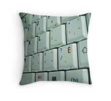 Closeup Keyboard Throw Pillow