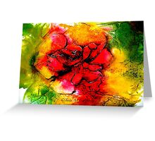 The Eloquence of a Rose Greeting Card