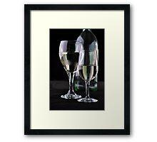 Bottle & Wine Framed Print