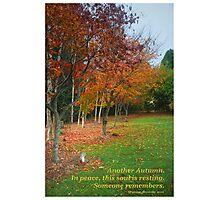 Autumn Rememberance Photographic Print