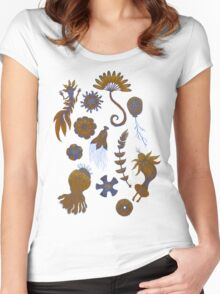 Sea Ballet in Psychedelic Colors, more apologies to Ernst Haeckel Women's Fitted Scoop T-Shirt