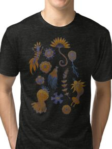 Sea Ballet in Psychedelic Colors, more apologies to Ernst Haeckel Tri-blend T-Shirt