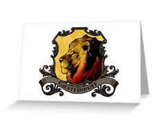 Gryffinpuff House Crest Greeting Card