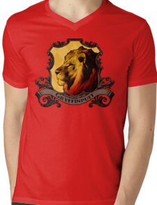 Gryffinpuff House Crest Mens V-Neck T-Shirt