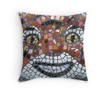 Mosaic Tiger mask Throw Pillow