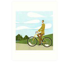 Tweed Cyclist on Mice Power Poster Art Print