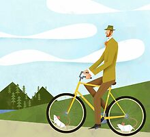 Tweed Cyclist on Mice Power Poster by Gregorilla
