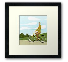 Tweed Cyclist on Mice Power Poster Framed Print