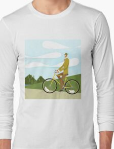 Tweed Cyclist on Mice Power Poster Long Sleeve T-Shirt