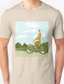 Tweed Cyclist on Mice Power Poster Unisex T-Shirt