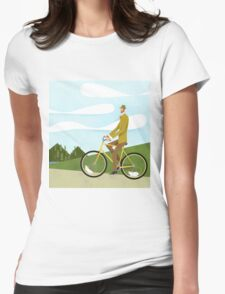Tweed Cyclist on Mice Power Poster Womens Fitted T-Shirt