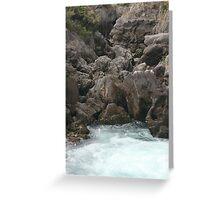 Rising water- Rotorua, New Zealand Greeting Card
