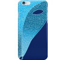 Blue fox mask with moon iPhone Case/Skin
