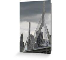 Zakim Bunker Hill Memorial Bridge Greeting Card