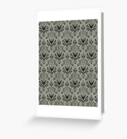 The Haunted Mansion Wallpaper Greeting Card