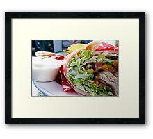 Chicken Veggie Wrap Framed Print