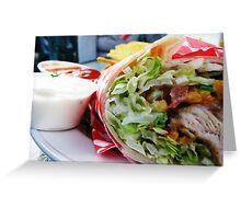 Chicken Veggie Wrap Greeting Card
