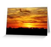Grey County Sunset Greeting Card