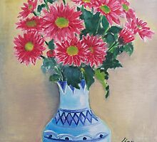 blue vase by zhenlian