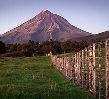 Mt Egmont - Morning Light by Dean Mullin