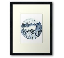 You'll Find Me In The Forest Framed Print