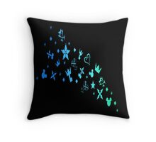 Kingdom Hearts Logos Throw Pillow