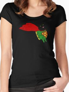 Superhero  Sheep Women's Fitted Scoop T-Shirt