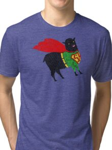Superhero  Sheep Tri-blend T-Shirt